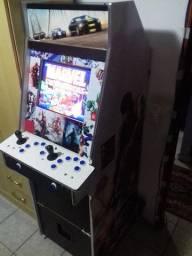 Gabinete arcade fliperama com placa jamma multijogos