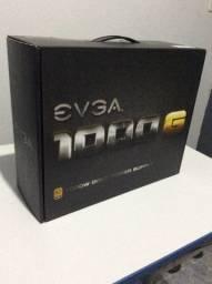 Fonte Modular EVGA 1000W Reais 80 Plus Gold (Com defeito)