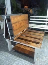 Sofa cama mesa espriguicadeira 4em1