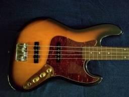 Baixo Fender Squier Jazz Bass Fretless - 1998 único dono / Captadores Fender