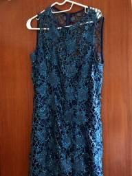 Vestido Azul longo 42