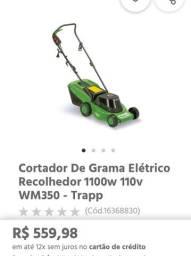 Cortador de grama com recolhedor trapp 350 1100wats nova