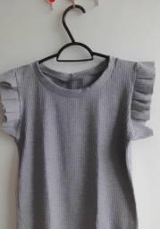 Camisa malha canelada