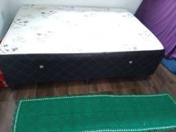 Cama box casal usada espuma 04cm (ENTREGO)