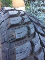 Jogo pneus 285 75 r16 rodas 16x8 6x139