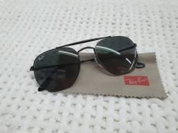 Óculos de Sol Ray Ban 3648L 002/71 54 Preto/Degradê Metal