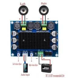 Placa amplificadora xh-a113 100w+100w nova