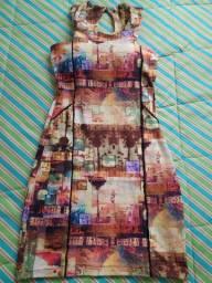 Vestido Estampado em Elastano
