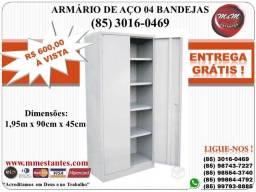 Entrega Grátis e Imediata - Armário de AÇO 04 Bandejas