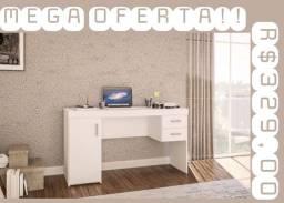 Mesa com 2 Gavetas e armário