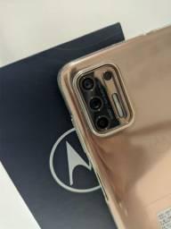 Hoje Motorola G9 Plus 128GB Ouro Rosa - Seminovo - com Garantia - Loja Niteroi