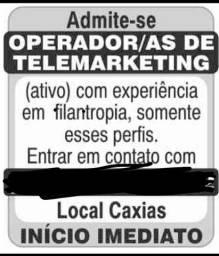 ADMITE SE OPERADOR DE TELEMARKETING