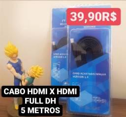 Cabo HDMi x HDMi 5 metros