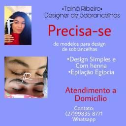 Procuro  modelos para Design de sobrancelhas