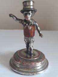 Miniatura alemã WMF homem circense arlequim