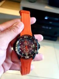 Relógio citzen aqualand eco drive laranja