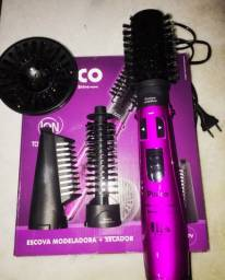 Escova rotativa Beauty Shine e cacheador ceramic