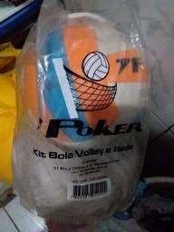 Kit   de   bola   e   rede   de   volei
