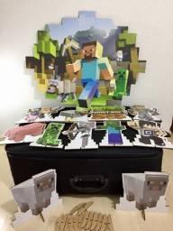 Decoração pra festa Minecraft