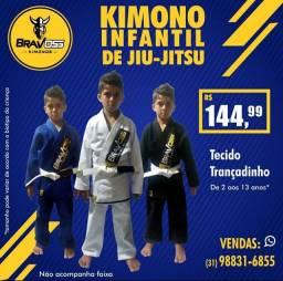 Kimono infantil de jiu jitsu trançadinho