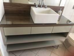 Móvel banheiro balcão pia 100% MDF moderno