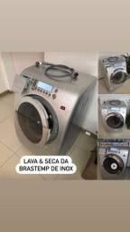 Lavadora e Secadora de Inox da Brastemp Entrego