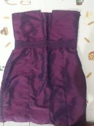 vestido social roxo com forro tomara que caia tamanho M