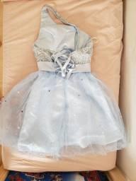 Vestido festa debutante azul