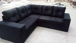 Sofá de canto com chaise no tamanho 3,00x2,00mtrs com chaise de 1,40mtrs. produto novo