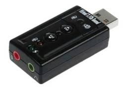 Adaptador Placa Som USB 2.0 Externo 7.1-Canais