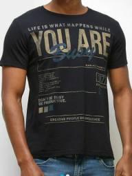Kit 3 camisetas casuais