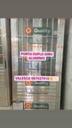 PORTA 1,00X2,10 ALUMÍNIO NATURAL 579,90 A VISTA