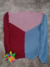 Blusa tricot  tamanho único nova
