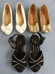 3 calçados Tam. 31 menina
