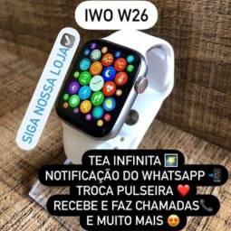 Smartwatch W26 IWO12 Recebe e faz ligações