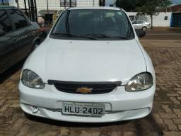 Corsa sedan classic life 2009 / 2010 flex, ar condicionado, branco, financiamos