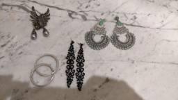 4 pares de brincos Grandes de luxo