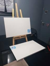Kit pintura: 2 telas 40×60 + Cavalete