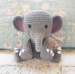 Elefante de crochê - Amigurumi