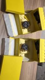 Relógios invicta originais, banhado a ouro 18k