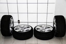 Jogo de Rodão 19 novos com Pneus 225/35 novos da Mercedes e Audi - Aceito Propostas