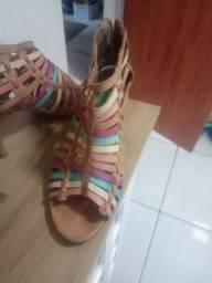 Sandália tiras cor