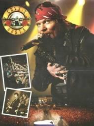 Poster Guns N Roses + Kit De Reportagens - Axl
