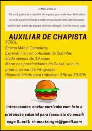 Auxiliar de Chapista Guará