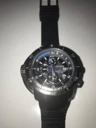 Relógio citizen aqualand eco-drive semi novo só 1.500