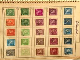 Selos antigos de varios países.