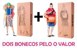 Barbie bmr1959 Ken + Barbie Dois bonecos Articulado Made to Move