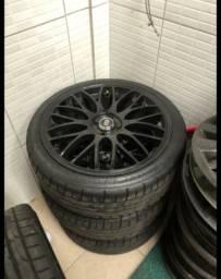 Vendo jogo de rodas 17 cm pneus impecáveis