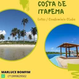 Costa de Itapema, lotes a partir de 450m², entrada de 10% em Saubara - Santo Amaro