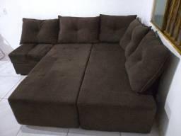 Pra vender logo: sofá-cama 5 lugares 1,90mx1,90m